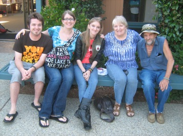 Left to right: My hubby D, me, my little sis, Mom, and Dad. Happy times!