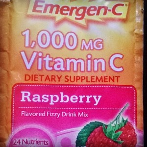 Here's the Emergen-C that my hubby and I take. Raspberry is my favorite flavor!